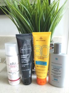 4 favorite face sunscreens